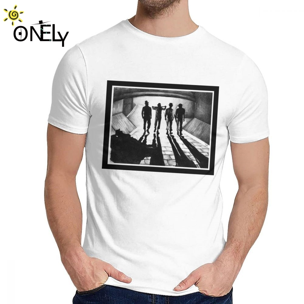 Camiseta con cuello redondo A La moda para hombre, Camiseta naranja, Estilo...