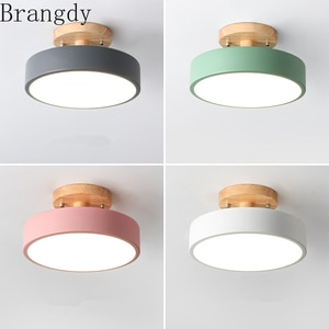 Nordic Round Led Ceiling Light Chandeliers Ceiling Lamp for Entrance Hallway Kitchen Room Bedroom House Decor Lighting Fixture