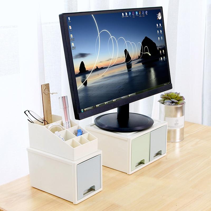 صندوق تخزين مع درج ، حامل شاشة LCD ، حامل مكتب ، ND998