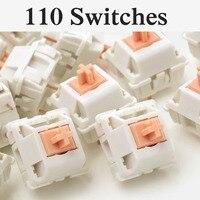 110 PCS 3 Pin Similar to Holy Panda Mechanical Keyboard Switch Replacement Tactile Polycarbonate Top Housing