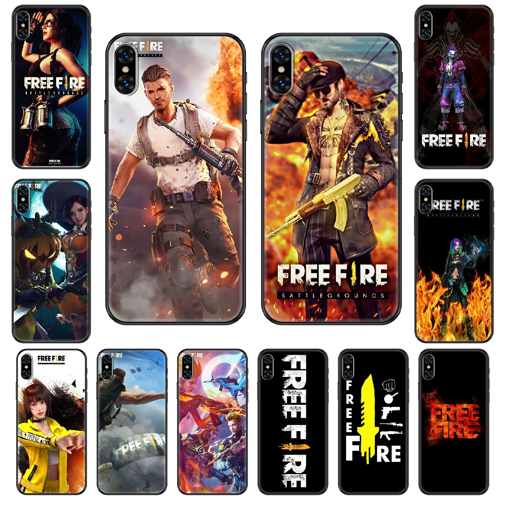 Game Free Fire Phone case For iphone 4 4s 5 5S SE 5C 6 6S 7 8 plus X XS XR 11 PRO MAX 2020 black fashion funda 3D bumper art