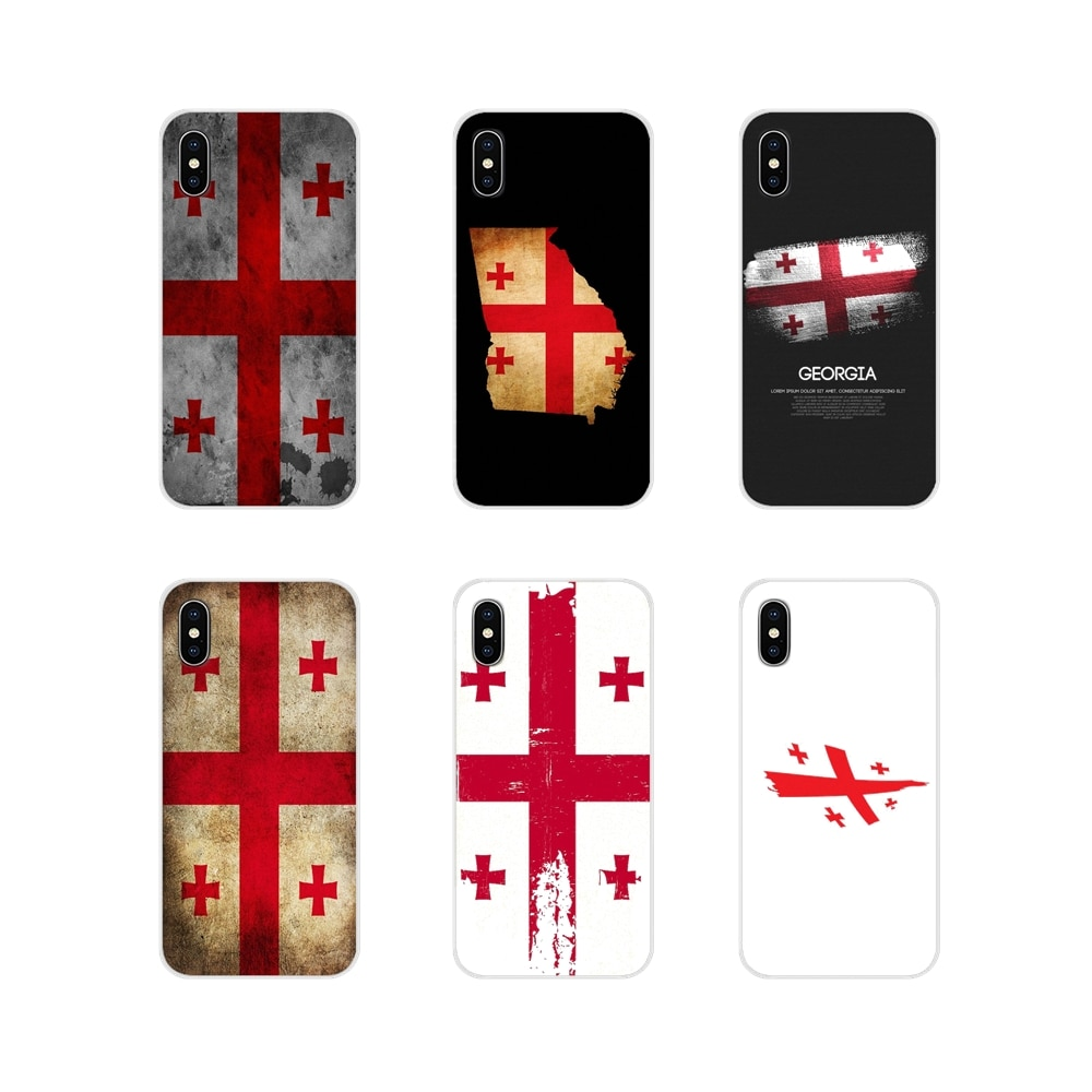 Джорджия Гранж флаг баннер прозрачный ТПУ чехол для Apple IPhone X XR XS MAX 4 4s 5 5S 5C SE 6 6S 7 8 Plus ipod touch 5 6