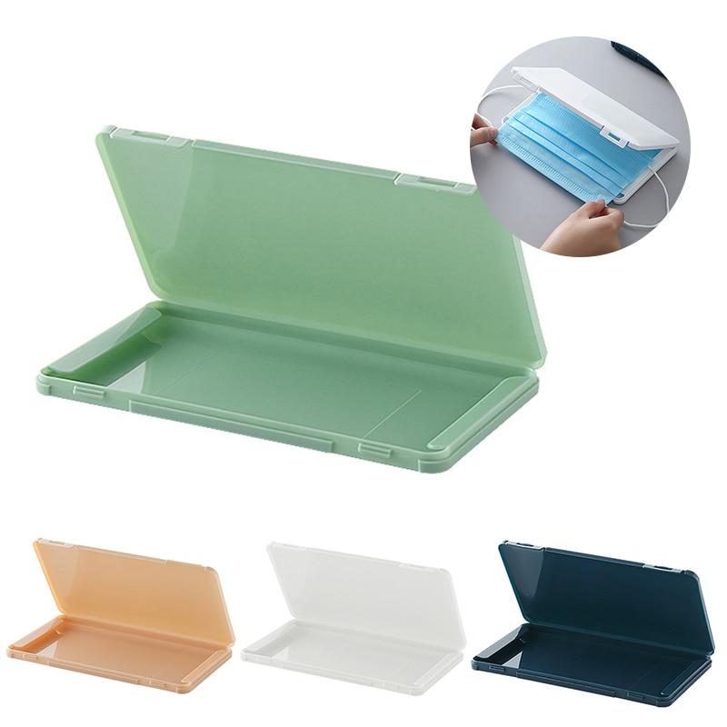 Boîte de rangement de masque réutilisable facture de pansement dossier de stockage temporaire Portable boîte de rangement anti-poussière sauver boîte de boîtier de masque