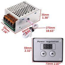 4000W 220V AC SCR voltaj regülatörü sönük elektrik Motor hız sıcaklık kontrol cihazı için SU ISITICI küçük motorlar
