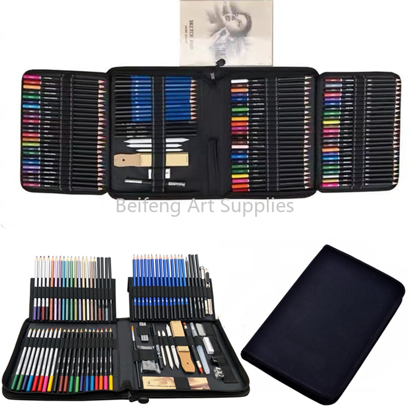33/51/72/95/144 Color Pencil and Sketch Pencils Set for Drawing Art Tool Kit  Watercolor Metallic Oil Pencil Artist Art Supplies
