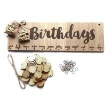 Chritsmas anniversaire jours spéciaux conseil de rappel maison suspendus décor en bois calendrier conseil suspendus ornement nouvel an décoration