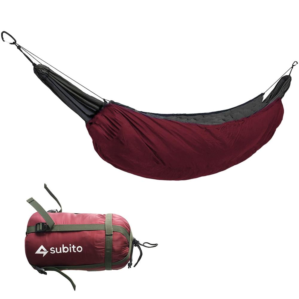 Camping Sleeping Bag Portable Hammock Underquilt Hammock Thermal Under Blanket Hammock Insulation Accessory for Camping