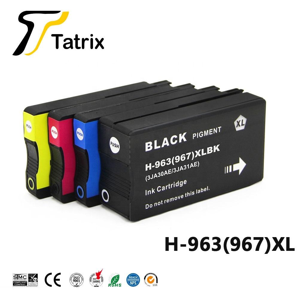 Tatrix ل Hp 963XL 967XL 963 967 XL ل HP963 نافثة للحبر الملون المعاد خرطوشة حبر ل HP OfficeJet Pro 9010 9015 طابعة