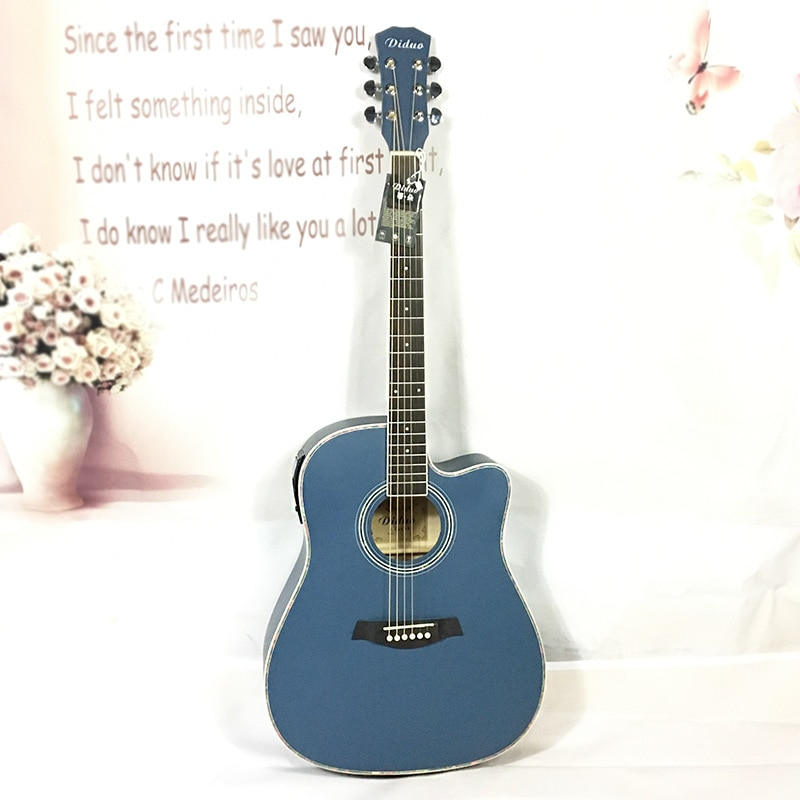 Girl Electric Guitar Wood Bridge Hollow Body Travel Electric Guitars High Quality Chitarra Elettrica Musical Instruments DL6DJT enlarge