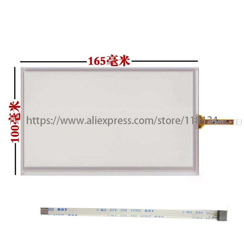 Nuevo KDT-4357 7 pulgadas 4 líneas 165*100 resistencia KDT 4357 panel de pantalla táctil sensor táctil 165mm * 100mm + cable de extensión