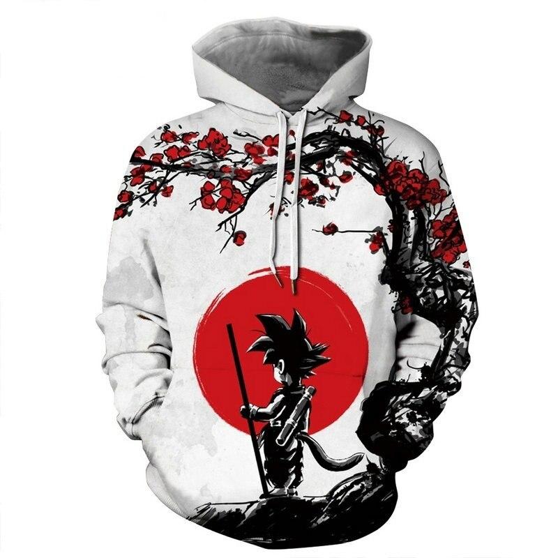 Moletom com capuz estampado dragon ball masculino, casaco masculino com capuz 3d agasalhos de treino
