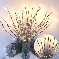 led willow branch lamp battery powered decorative twig lighted branch tree diy night light home decoretion supplies dropship