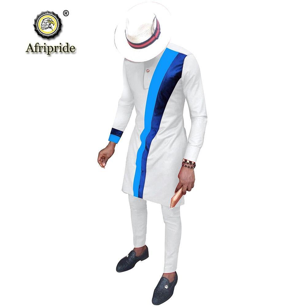Мужская повседневная африканская одежда, рубашка с длинным рукавом и брюки, костюм Дашики, наряды Анкары, фото, одежда S2016002