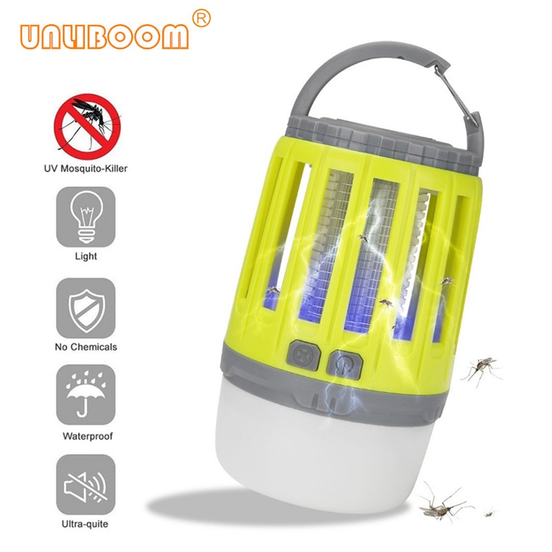 Rechareable IP67 À Prova D Água Anti Mosquito Elétrico Lâmpada Assassino Inseto USB Luz CONDUZIDA Da Noite Fly Bug Assassino Armadilha Zapper Pest