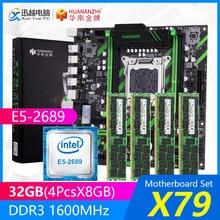 HUANANZHI X79 placa base de X79-ZD3 REV2.0 M.2 MATX con Intel Xeon E5-2689 2,6 GHz CPU 4*8GB (32GB) DDR3 1600MHz ECC/REG RAM