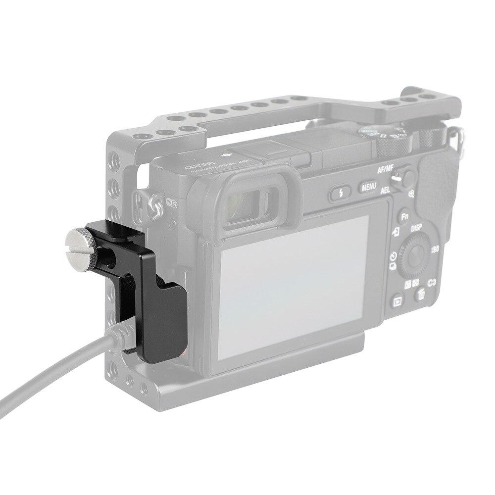 1/4-20 tornillo Clip de bloqueo de Cable abrazadera de aleación de aluminio Mini para HDMI Cable Protector Universal Cámara Cage Kit