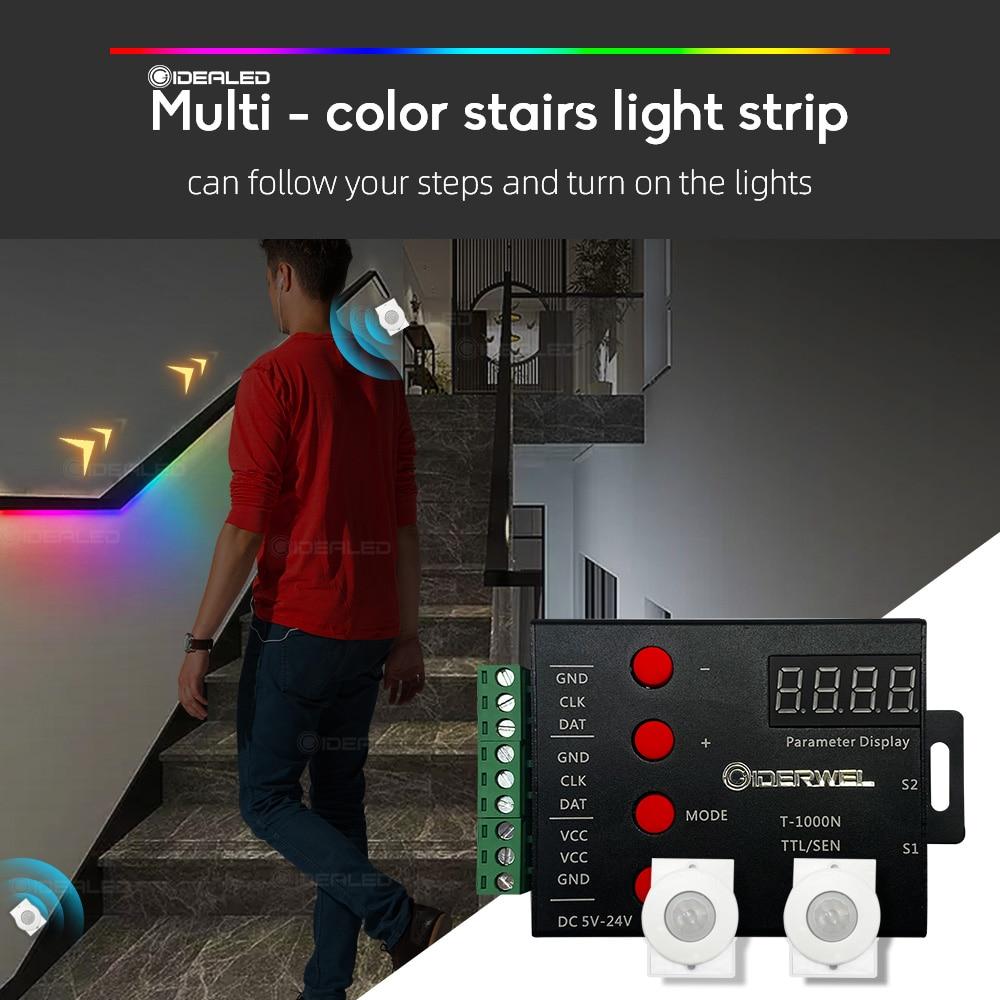 controller-per-strisce-luminose-a-led-per-scale-pir-sensore-di-movimento-indirizzabile-led-rgb-strip-lights-per-il-controllo-di-ogni-luce-per-scale-sotto-l'armadio