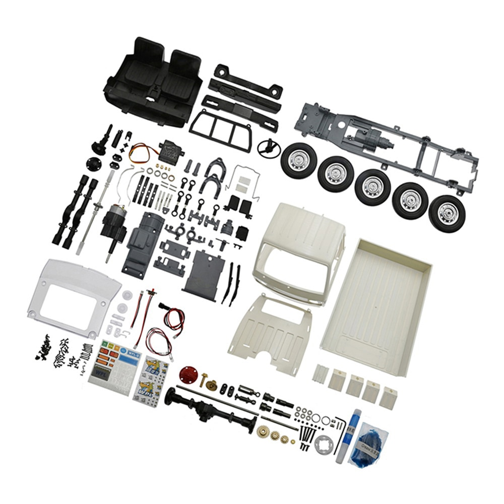 RC Truck Toys Parts For WPL D12KM 1/10 Light Truck Drift RC Car KIT Motor Car Shell Wire Tire Chassis enlarge