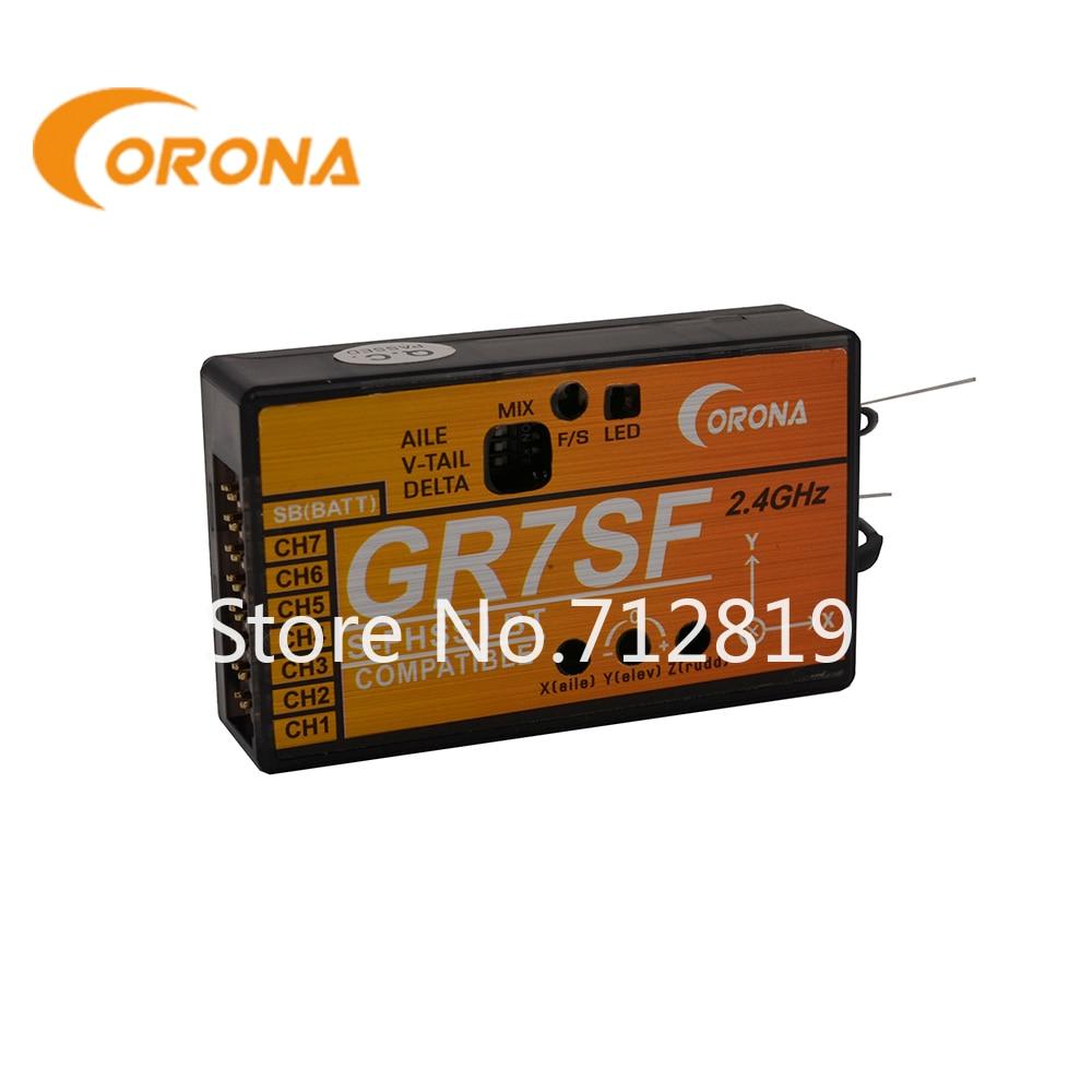new futaba r2104gf 4 channel 2 4ghz s fhss receiver 4pl r2104gf CORONA GR7SF 2,4 ГГц S-FHSS ресивер совместим с FUTABA S-FHSS, таких как T6J T8J T10T T14SG
