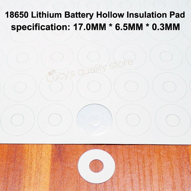 Купить с кэшбэком 100pcs/lot 21700 lithium battery can be spot welded positive flat cap 20700 lithium battery pole ear insulation gasket