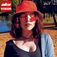 aka vision small retro sunglasses women 2021 vintage oval eyewear womenmen metal men glasses small frame female gafas de sol
