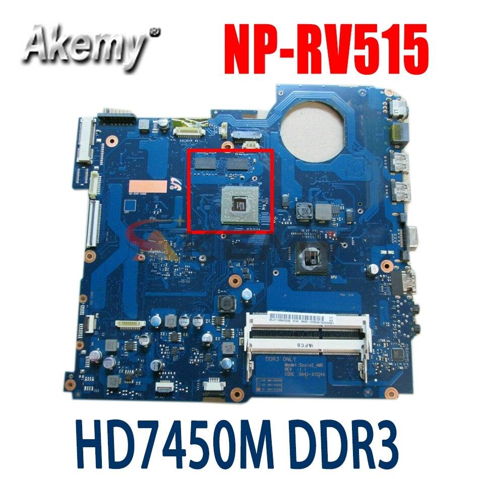Akemy BA92-07849A BA92-07849B BA41-01533A لسامسونج NP-RV515 RV515 اللوحة المحمول HD7450M DDR3 كامل اختبار