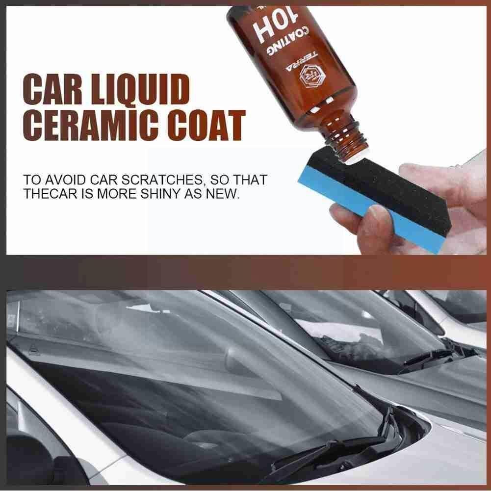 Автомобильное нано-керамическое покрытие для стекла, 30/50 мл, 10H, жидкость, неорганический нанокварцевый кристалл, уход, Гидрофобный агент, ух...