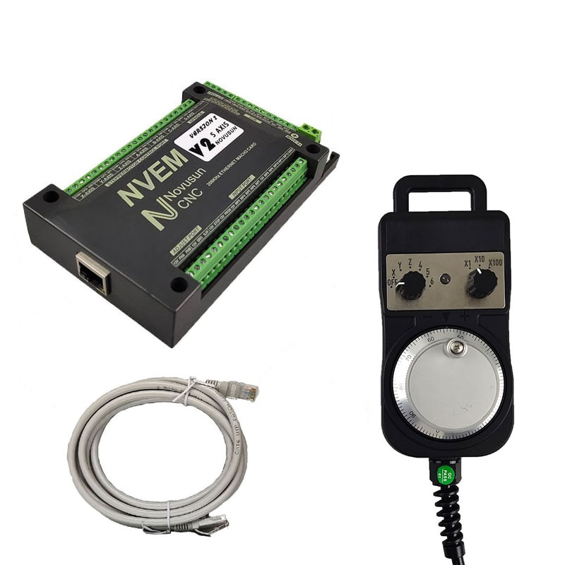 Mach3 NVEMV2.1 Motion Control Card 200kHz CNC Kit Engraving Machine Motor Controller 3 4 5 6 Shaft and electronic handwheel.