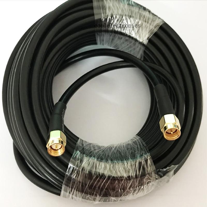 RG58 SMA macho a conector SMA cable Coaxial WIFI cable Coaxial 1/2/3/5m 10m 15M 20M 30M