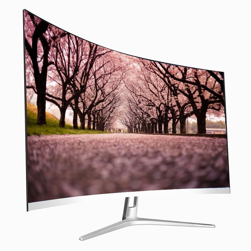 """Nuevo estilo, Monitor de PC de escritorio con Panel curvado MVA de 27 """", Monitor para juegos de ordenador curvado de 27 pulgadas, 144hz"""