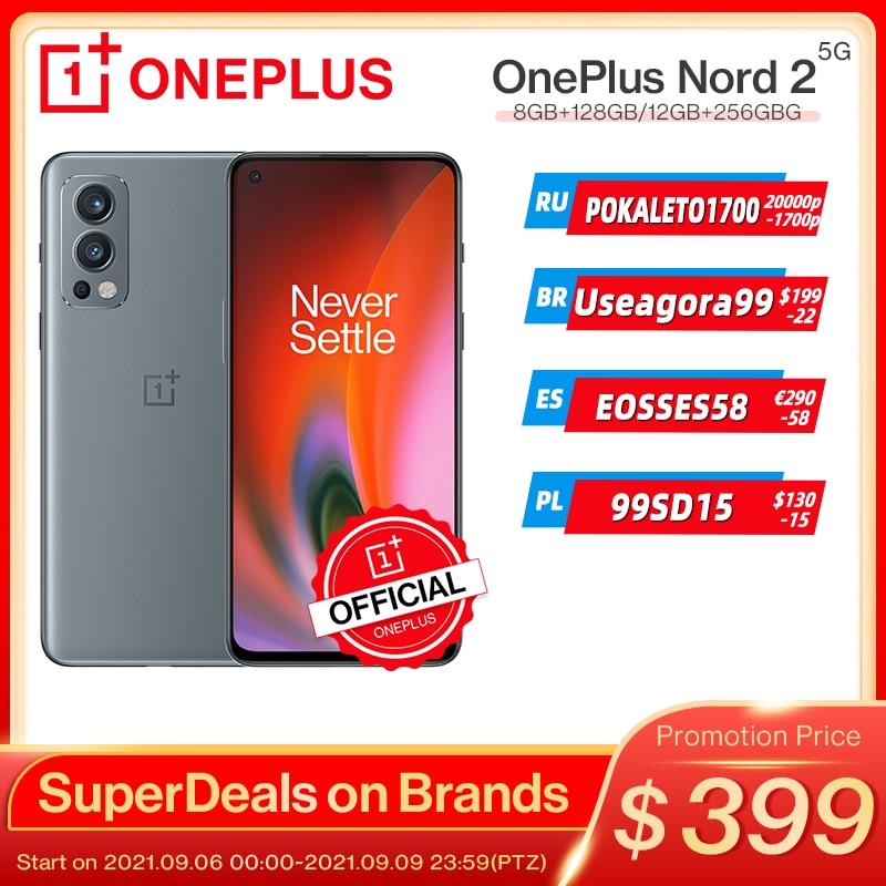Смартфон глобальная версия OnePlus Nord 2, регулировка яркости, 128-AI, 8 ГБ, ГБ, камера 50 МП с ии, деформация заряда, 65 дюймов, 90 Гц, жидкий AMOLED дисплей;9.6...