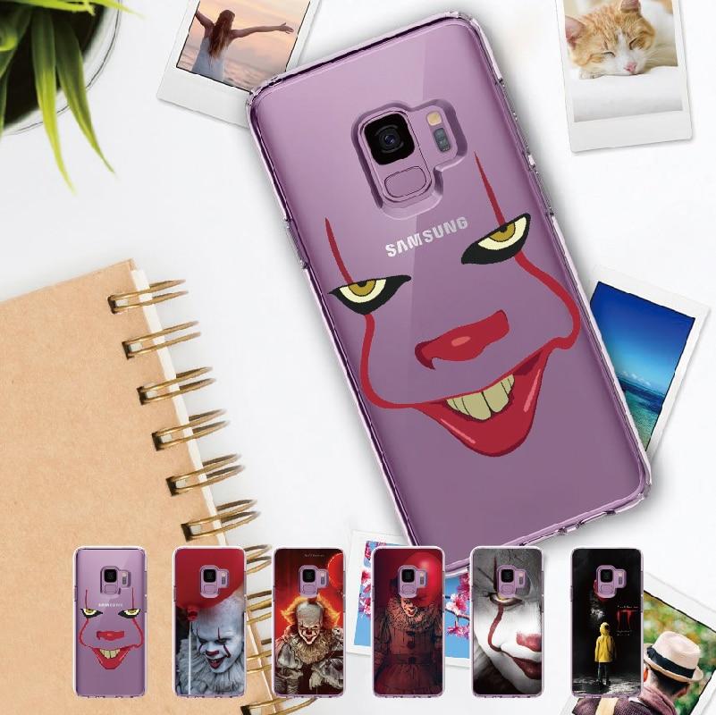 Мягкий прозрачный чехол с кристаллами Pennywise Clown Float It Comic для Samsung Galaxy Note 8 9 10 A7 A8 S8 S9 S10 S20 Plus