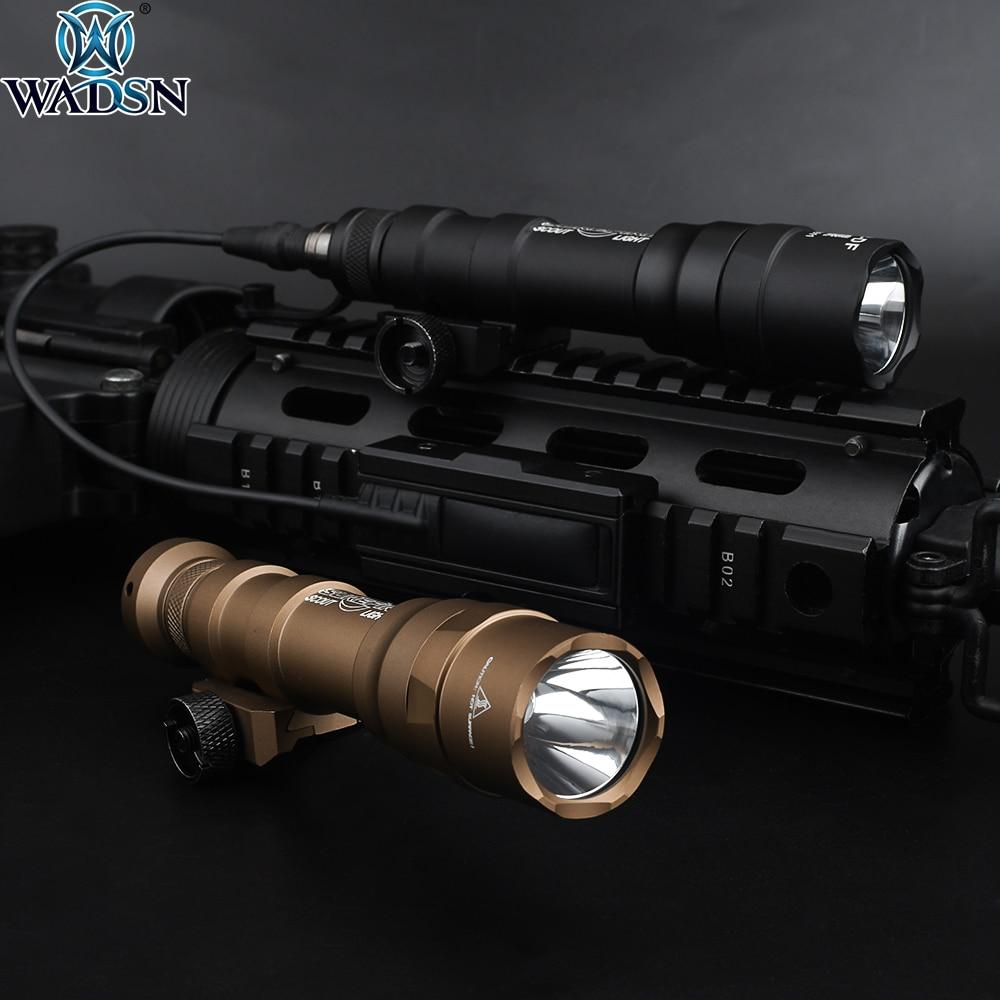 Airsoft Surefir M600 M600DF 1400lumens Dual Fuel Scoutlight LED Tactical Hunting Rifle Weapon Flashlight Fit 20mm Picatinny Rail