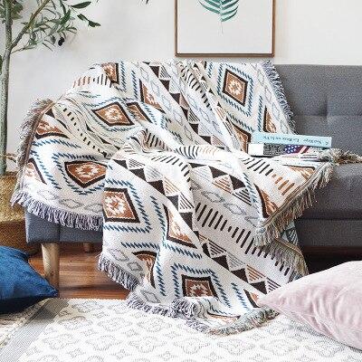 Европейское геометрическое одеяло, декоративный чехол для дивана, кобертор на диване/кроватях/самолете, дорожный плед, нескользящее стеган...