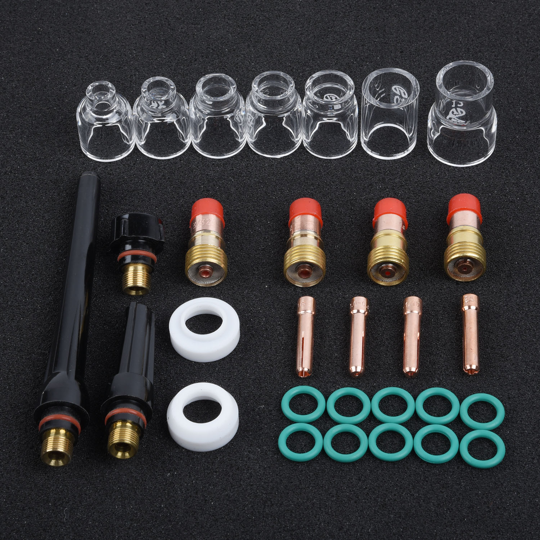 Pro TIG soplete Stubby Gas lente 12 # Pyrex copa de vidrio para WP-17/18/26 (1 Juego)
