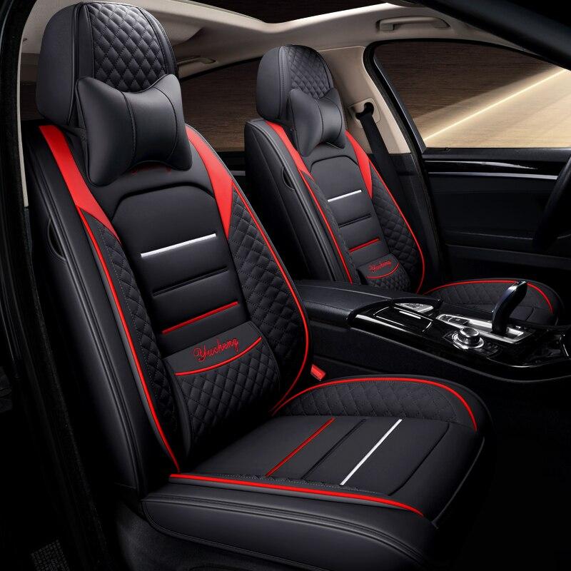 La cobertura completa Eco-cuero fundas de asientos de coche asiento de cuero PU fundas para coches Volvo s60 v40 v60 s80 s90 v90 xc70 xc40 xc60