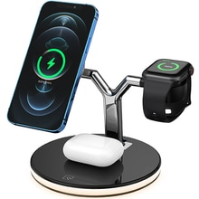 3 in 1 Magnetic Wireless Charger 15W Fast Charging Station for Magsafe iPhone 12 pro Max Chargers fo