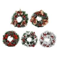 christmas hanging wreath handmade garland craft ornament holiday home door window fireplace props arrangement