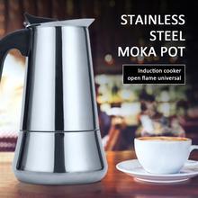 Moka Expresso italienne en acier inoxydable, 2/4/6/9/12 tasses, cafetière sur la cuisinière