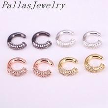 6Pairs  2020 New Women Ear Cuff Jewelry Fashion Circle No Pierced Small Earring Micro Pave CZ Earrings