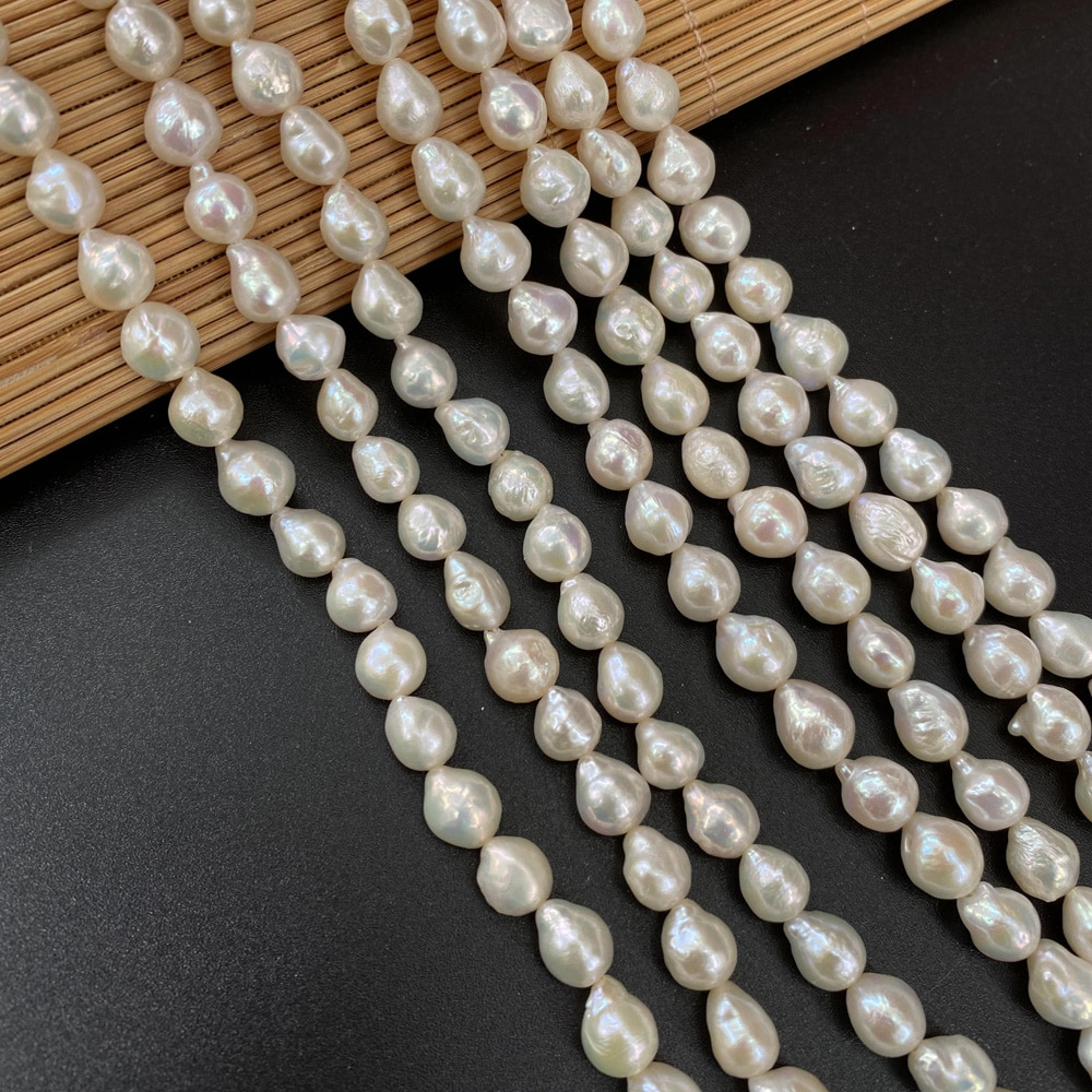 8-9mm Natural Baroque Pearl Beads Charms Freshwater Pearls for Jewelry Making DIY Necklace Bracelet Accessories  - buy with discount
