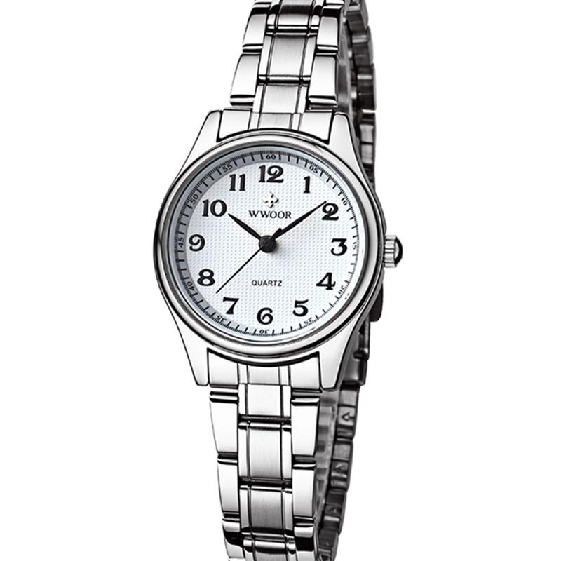 2021 Women Watches WWOOR Famous Top Luxury Brand Fashion Casual Dress Quartz Watch WaterProof  Stainless Steel Band Ladies Watch enlarge