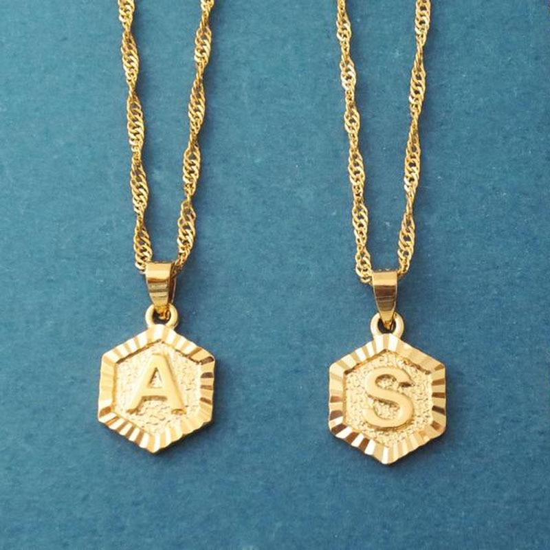 Collares minimalistas con letras iniciales para mujer, joyería Boho, colgante de alfabeto de acero inoxidable, collares, mejores amigos, regalos, Bff