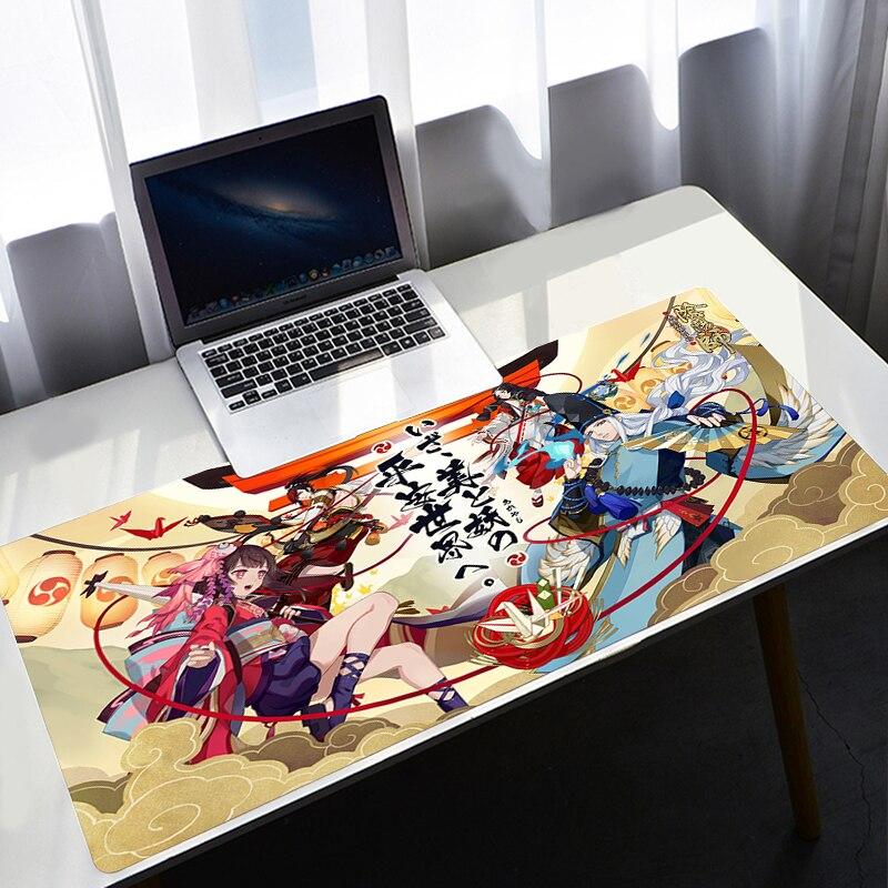 Милый коврик для мыши из аниме «Mausepad» Onmyoji, игровые аксессуары, коврик для мыши Xl, скоростной компьютерный коврик для клавиатуры, настольные ...