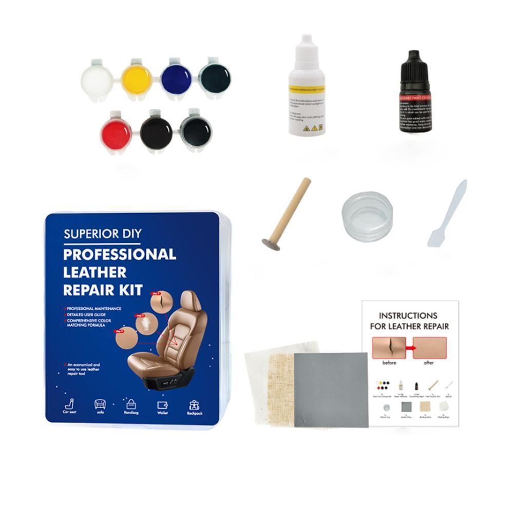 Auto DIY Leather Maintenance Vinyl Repair Kit Compound Color Seat Restorer Sofa Car Repair Tools Liquid Leather Vinyl Repair Kit
