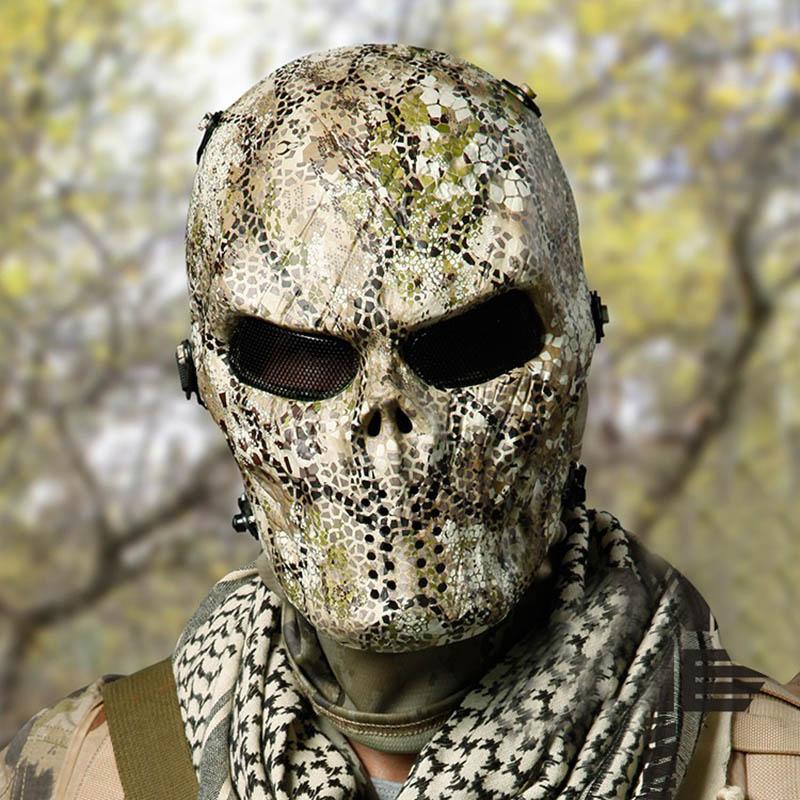 Máscara de camuflaje táctico calavera Zombie campo máscara de equipo adecuado para todo tipo de terreno combate de pistola para Nerf juguete periférico
