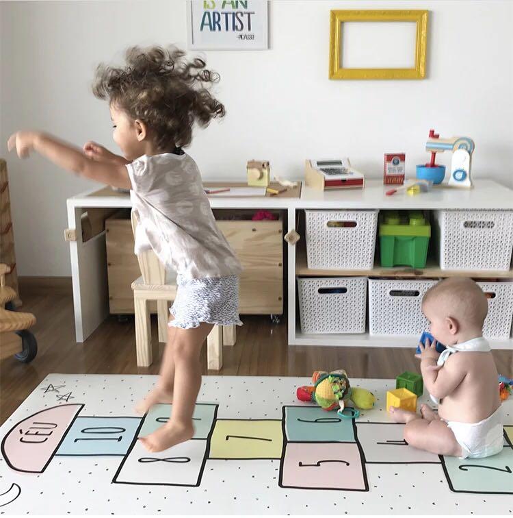 INS الأطفال القفز شبكة الرقمية الكلمة حصيرة لعبة السجاد حصيرة حصيرة للزحف سجادة ضد الإنزلاق الأمومة حصيرة نوم غرف معيشة السجاد