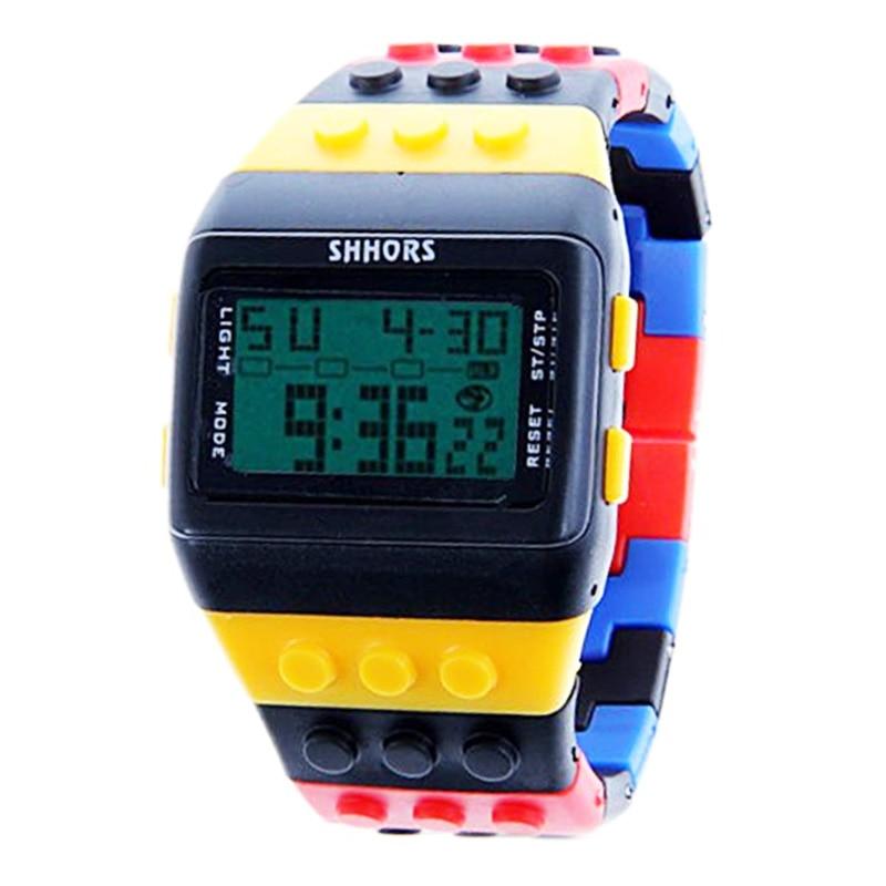 Mulheres Relógios de Plástico Moda Led Relógios Digitais Íris SHHORS Relógio Eletrônico Senhoras Relógio de Pulso Relógios Relógio reloj mujer