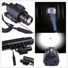2in1 tactique CREE lampe de poche LED lumière rouge Laser vue + arme lumière pour fusil de chasse pour Glock 17 19 22 20 23 31 37