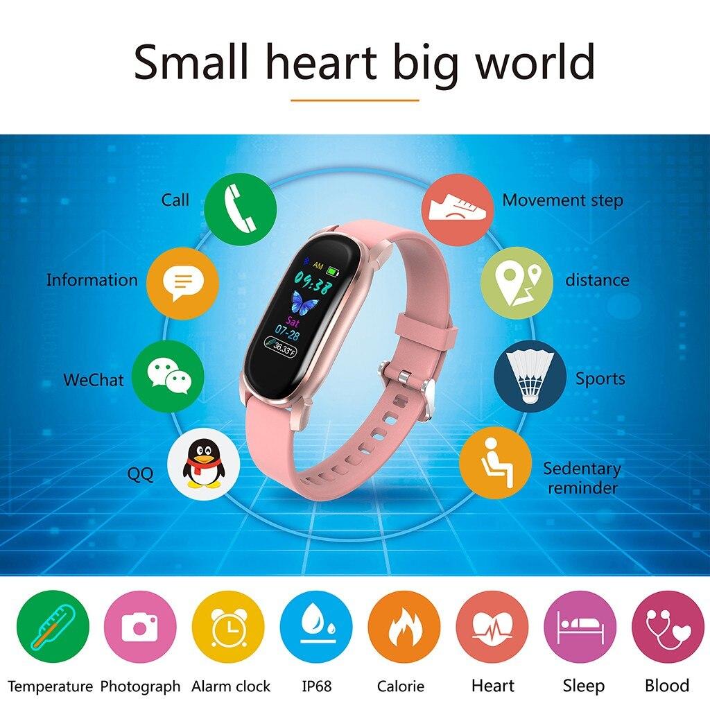Reloj inteligente Monitor de temperatura corporal reloj deportivo inteligente adulto niño pantalla LED Monitor de temperatura corporal pulsera